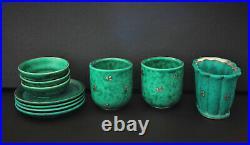 10 pièces de céramique Argenta par Gustavsberg dépoque Art déco (c. 1940)