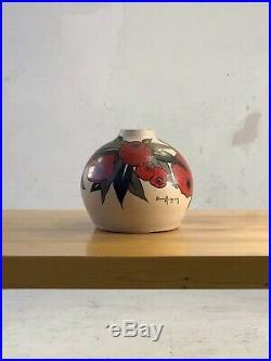 1930 Betsy Augeron Vase Ceramique Art-deco Nouveau Moderniste Wiener Werkstatte