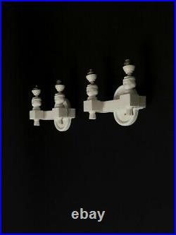 1950 2 APPLIQUES ART DECO CERAMIQUE VALLAURIS Jouve Arbus Dupre-Lafon