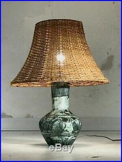 1950 Jacques Blin Lampe Moderniste Bauhaus Forme-libre Ceramique Vallauris