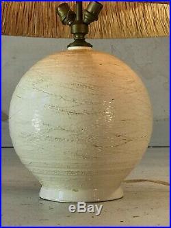 1950 LAMPE CERAMIQUE ART-DECO MODERNISTE BAUHAUS SCULPTURE Vallauris Besnard