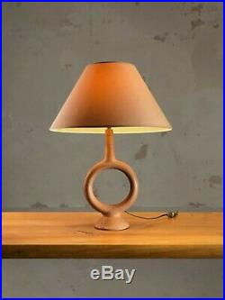 1950 Lampe Terre Cuite Ceramique Moderniste Art Populaire Vallauris Shabby-chic