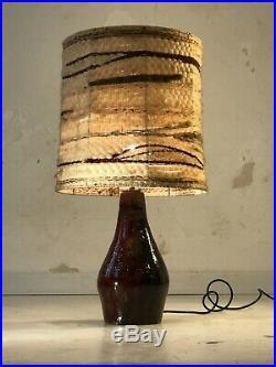 1950 Vallauris Lampe Ceramique Moderniste Bauhaus Shabby-chic Art Populaire