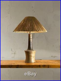1970 La Borne Lampe Gres Moderniste Bauhaus Forle-libre Ceramique