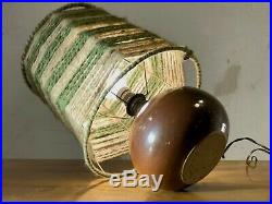 1970 Seris Lampe Ceramique Moderniste Bauhaus Shabby-chic Art Populaire