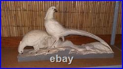 216 / Céramique'Couple de faisan', origine Art Déco
