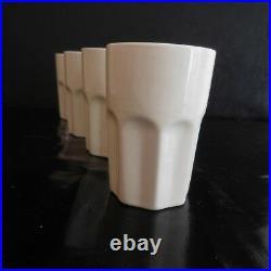 4 verres à café céramique faïence AFIBEL art déco table design XXe France N3056