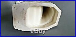 ADNET PIGEON Envol faience blanche ceramique art déco céramiste signé