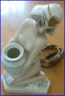 ARMAND GODARD, ALADIN FRANCE, signée, ancienne veilleuse lampe art déco