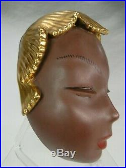 ART DECO GOLDSCHEIDER MASK MASQUE EN CERAMIQUE Ca. 1930 RARE