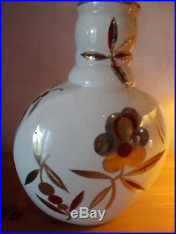 ART DÉCO Grand Vase Céramique Signé 32 cm GUSTAVE ASCH (1856-1911)