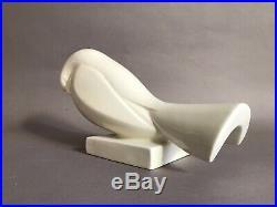 Adnet craquelé pigeon roucoulant en céramique Art Déco éditions La Maîtrise