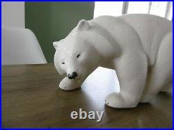 Ancien ours polaire en céramique de Sèvres Vinsare art déco