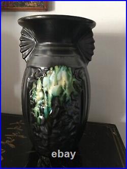 Ancien vase art deco moderniste céramique belgique belgian vase