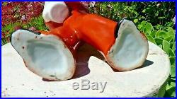 Ancienne Figurine Groom Spirou Bouteille Art Déco En Porcelaine Céramique