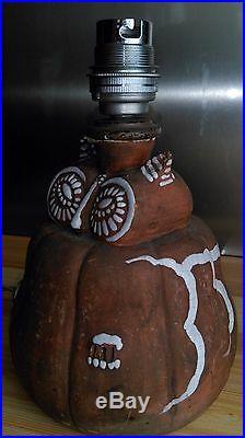 Ancienne Lampe En Ceramique Zoomorphe Art Deco 1930 Chouette Primavera
