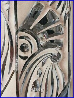 Ancienne Pendule Art-Déco en Céramique décor Argenté vers 1930 ODYV à Vierzon