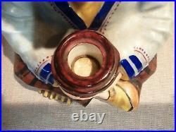 Ancienne Veilleuse Art Déco En Forme D'indien En Céramique signée Limoges