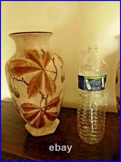 Ancienne et grande paire de vase Art Déco 1920 signé A DUBOIS