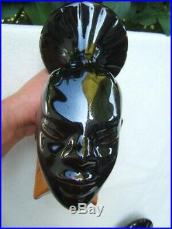 Ancienne paire de serre livre en céramique cuir art déco croisiére noire citroen