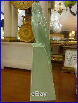 Armand Petersen Perruche Céramique De Sevres Art Deco