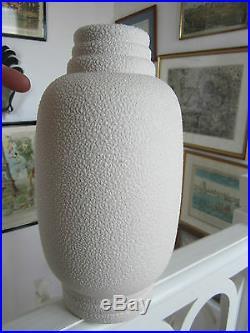 Art Deco Vase En Email Crispe Signe L Fontinelle Moderniste Ceramique