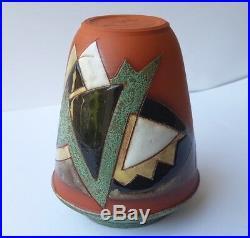 Art Déco Vase en Céramique Signé Um 1920 K749