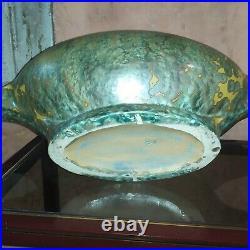 Art deco grande jardinière Pierrefonds Grès Ceramique centre de table L58cm