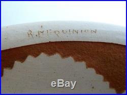 Assiette céramique art déco signé Roger Mequinion 22 cm 2
