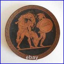 Assiette plate céramique terre cuite Grèce antiquité vintage 1950 art déco N6940