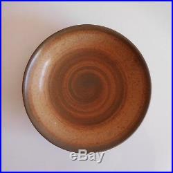 Assiette ronde creuse Longchamp France fait main céramique grès Art Déco N3250
