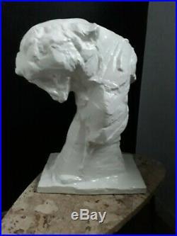 Authentique Statue Animaliere Panthere Ceramique Art Deco