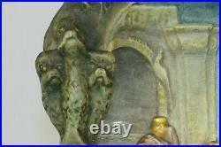 Bas relief céramique Lachenal art nouveau, ceramic vintage, pottery art deco