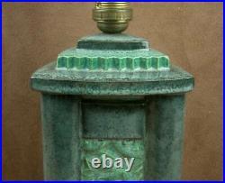 Belle Lampe Art Deco Ceramique L. Rossat Pour Marcel Guillard Editions Etling
