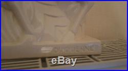 Biches en céramique craquelé signé Duquenne