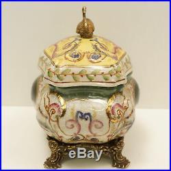 Boite Bijoux Cygne Oiseau Style Art Deco Porcelaine Bronze Ceramique