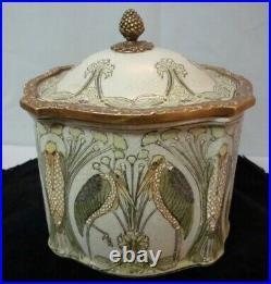 Boite Bijoux Marabout Oiseau Style Art Deco Style Art Nouveau Ceramique
