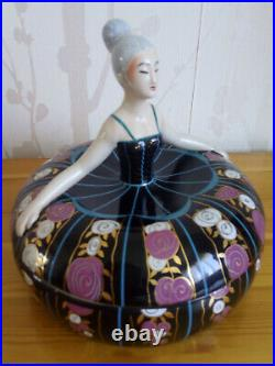 Boite à bijou signée Robj Paris période art deco en céramique d'art