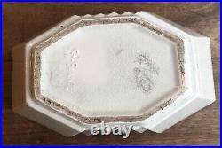 Boite céramique craquelée art déco st Clément signé LEMANCEAU
