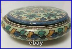 Boite ceramique tunisien NABEUL EL KHARRAZ Ben SEDRINE art deco nouveau