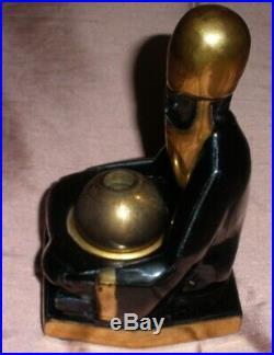 Brûle parfum / encens Céramique noir & or Homme oriental dans le goût de Robj