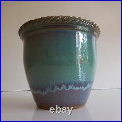 Cache-pot céramique terre cuite terracotta art déco France