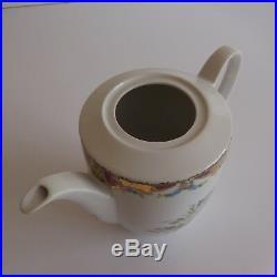 Cafetière céramique porcelaine GL Limoges art nouveau déco design XXe PN France