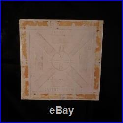 Carreau céramique faïence fait main LA FERTE GAUCHER art déco France N3053