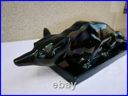 Ceramique Animaliere Craquelee Art Deco Renard Charles Lemanceau Saint Clement