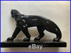 Ceramique Animaliere Panthere Epoque Art Deco Charles Lemenceau St-clement