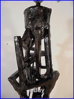 Céramique Art Déco 30 Pied Lampe F. Libre Constructiviste Brutaliste DLG Tatline