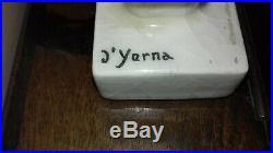 Céramique Art Déco Craquelée Signée David D'yerna