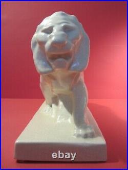 Ceramique Craquelee Art Deco Lion Peugeot Le Jan/art Deco Ceramic/automobilia