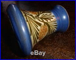 Céramique Elchinger Soufflenheim vase art déco aux pommes de pin